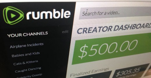 Rumble's Creator Dashboard